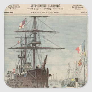 The French Flotilla in Portsmouth Square Sticker