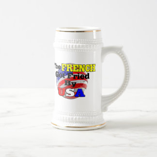 The French Got Fried By USA Beer Stein