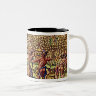 The French Help the Indians in Battle Two-Tone Coffee Mug