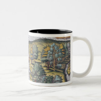 The French left at Fort Charles suffering Two-Tone Coffee Mug
