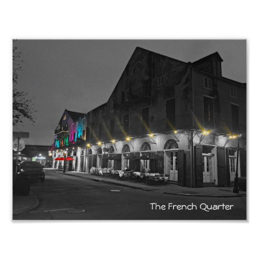 The French Quarter | Frenchman Street at Night Poster