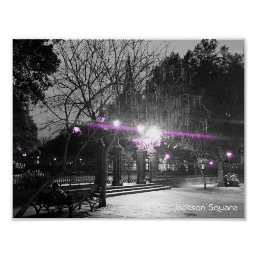 The French Quarter | Jackson Square at Night Poster