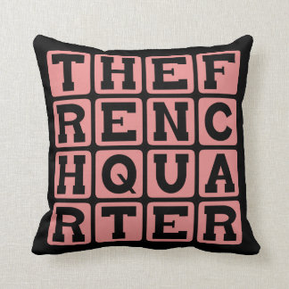 The French Quarter, Vieux Carré, New Orleans Throw Pillow