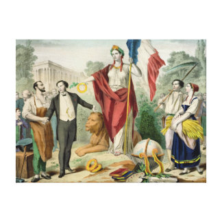 The French Republic Gallery Wrapped Canvas