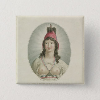 The French Republican, engraved by A. Clement Pinback Button