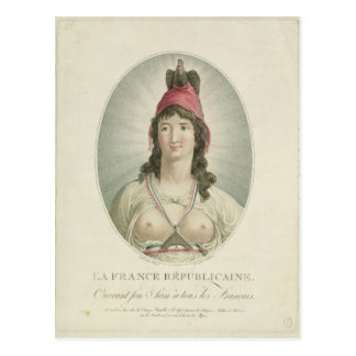 The French Republican, engraved by A. Clement Postcard