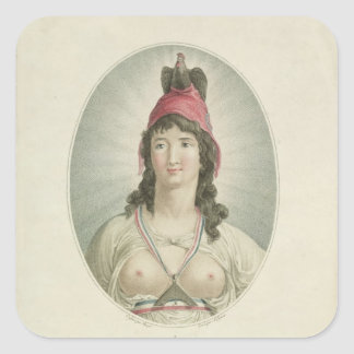 The French Republican, engraved by A. Clement Square Sticker