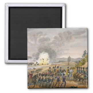 The French Retreat after the Battle of Leipzig, 19 2 Inch Square Magnet