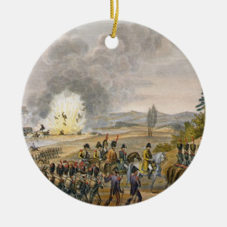 The French Retreat after the Battle of Leipzig, 19 Ceramic Ornament