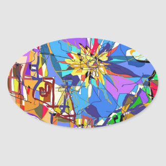 The French Riviera. Oval Sticker