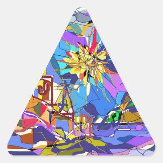 The French Riviera. Triangle Sticker