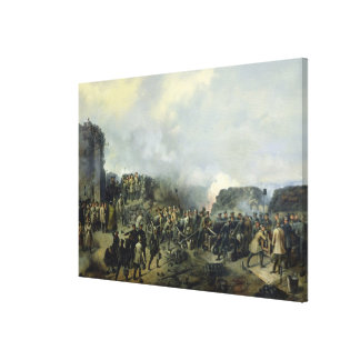 The French-Russian battle at Malakhov Kurgan Canvas Print