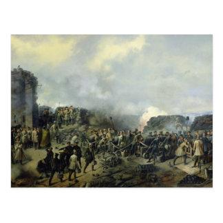 The French-Russian battle at Malakhov Kurgan Postcard