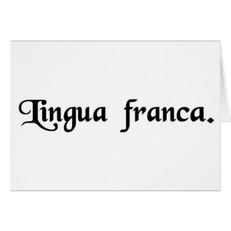 The French tongue. Greeting Card