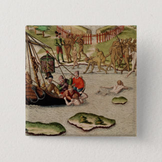 The French Vessel Lands Pinback Button