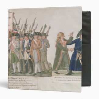 The French Vow 'Long Live Freedom or Die' 3 Ring Binder