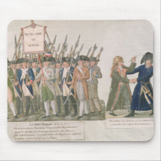 The French Vow 'Long Live Freedom or Die' Mouse Pad