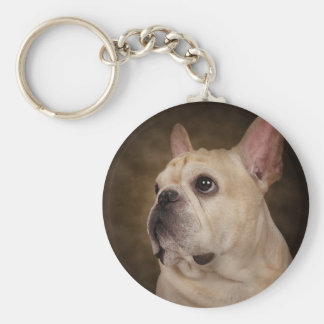 The Frenchie Basic Round Button Keychain