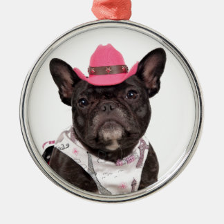 The Frenchie Metal Ornament