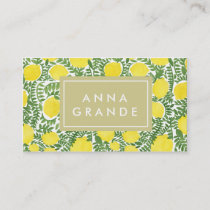 The Fresh Lemon Tree Business Card