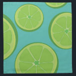 "The Freshness Lime Fabric Napkins<br><div class=""desc"">Get fresh with these fabulous fruity cloth napkins featuring dancing lime slices on a sophisticated deep turquoise blue background. Perfect for a brunch or for everyday use. Create your own wording - add a custom printed monogram, initial or family name for a personal touch! These cloth napkins make a wonderful...</div>"