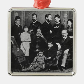 The Freud Family, c.1876 Square Metal Christmas Ornament