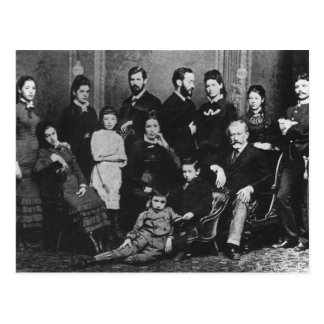 The Freud Family, c.1876 Postcard