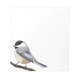 The Friendly Black Capped Chickadee Notepad