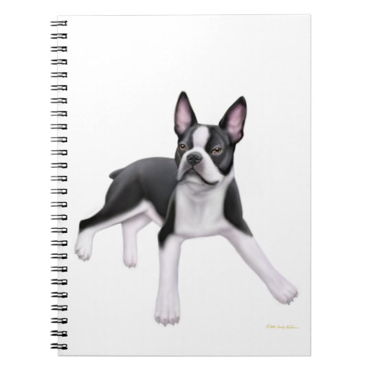 The Friendly Boston Terrier Notebook