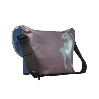 The Friendly Forest Dancing Bunny Courier Bag