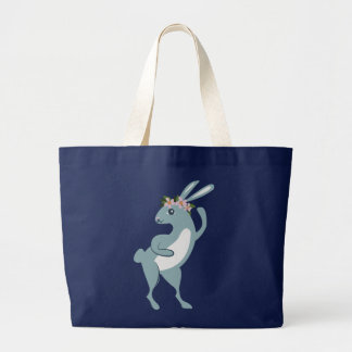 The Friendly Forest Dancing Bunny Large Tote Bag
