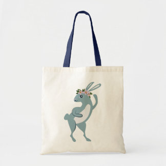 The Friendly Forest Dancing Bunny Tote Bag