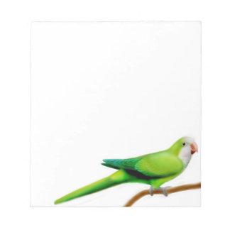 The Friendly Quaker Monk Parrot Notepad