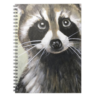 The Friendly Raccoon Spiral Notebook