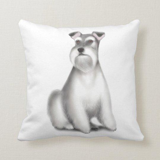 The Friendly Schnauzer Dog Pillow