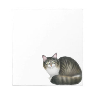 The Friendly Tabby Cat Notepad