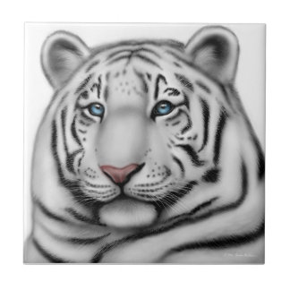 The Friendly White Tiger Tile