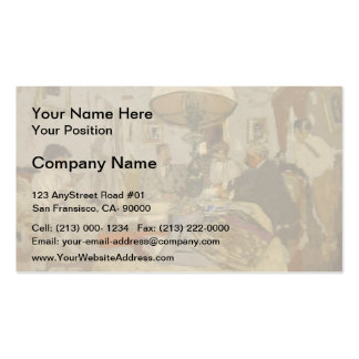 The friends around the table by Edouard Vuillard Double-Sided Standard Business Cards (Pack Of 100)