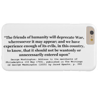 The Friends of Humanity Will Deprecate War Barely There iPhone 6 Plus Case