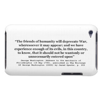 The Friends of Humanity Will Deprecate War iPod Case-Mate Case