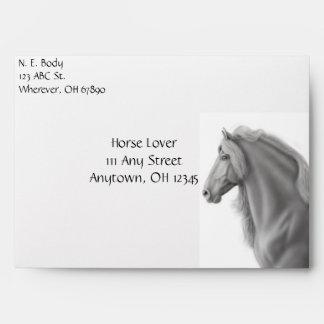 The Friesian Horse Envelope