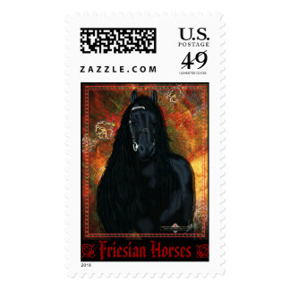 The Friesian - Postage Stamp