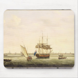 The Frigate 'Surprise' at Anchor off Great Yarmout Mouse Pad