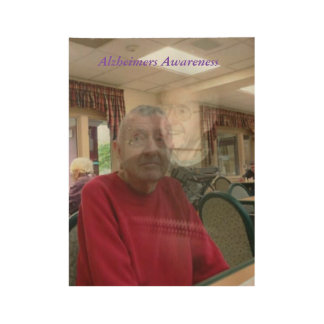 The Frightened Expression of Alzheimers Disease Wood Poster