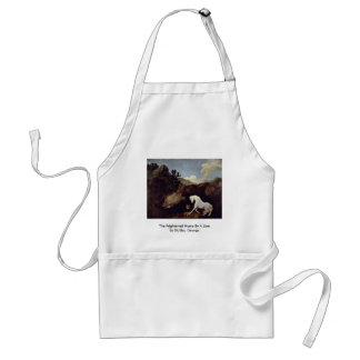 The Frightened Horse By A Lion By Stubbs, George Adult Apron