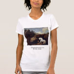 The Frightened Horse By A Lion By Stubbs, George Tshirts