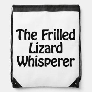 the frilled lizard whisperer backpack