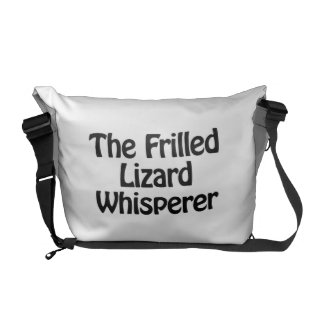 the frilled lizard whisperer courier bags