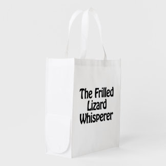 the frilled lizard whisperer reusable grocery bags