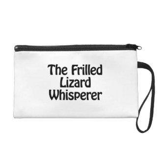 the frilled lizard whisperer wristlet purses